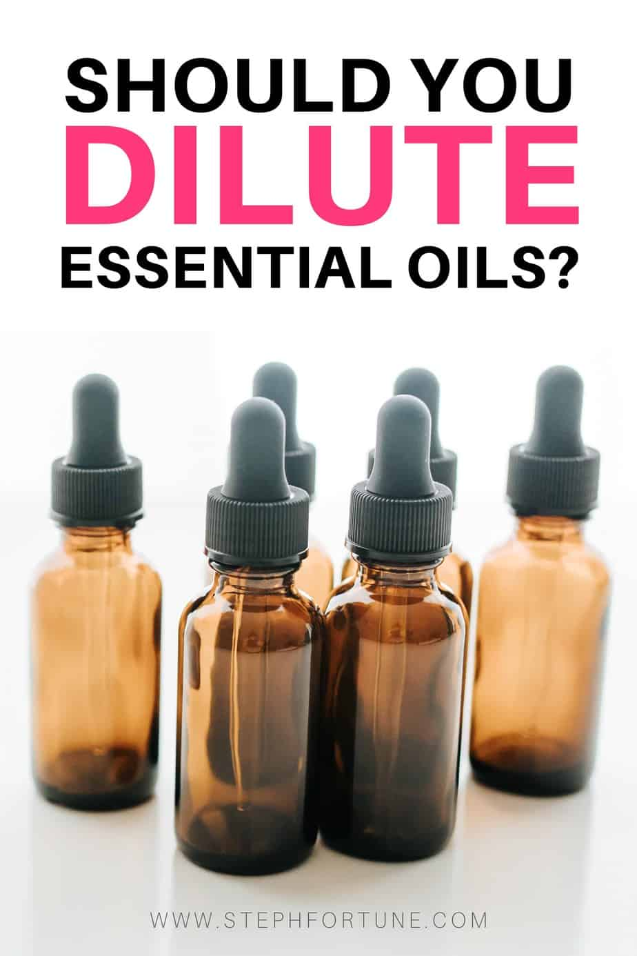Should you dilute essential oils