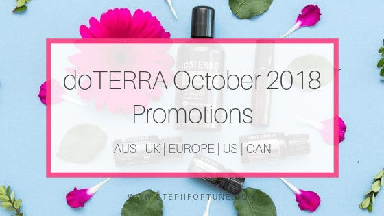 doTERRA October 2018 Promotions