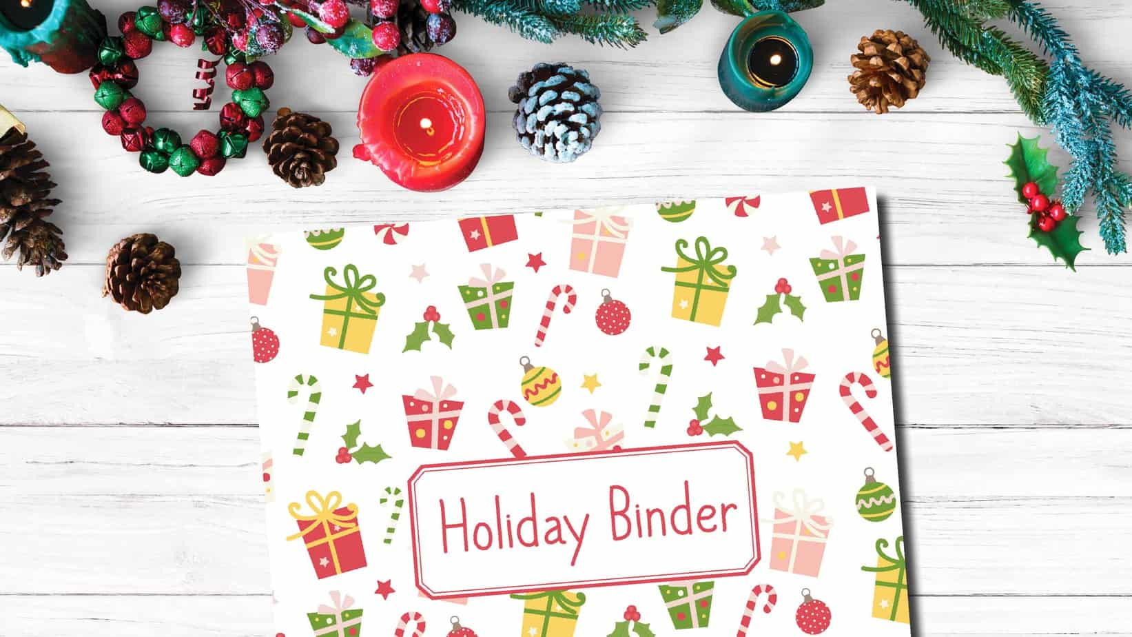 Holiday Binder Cover Printable