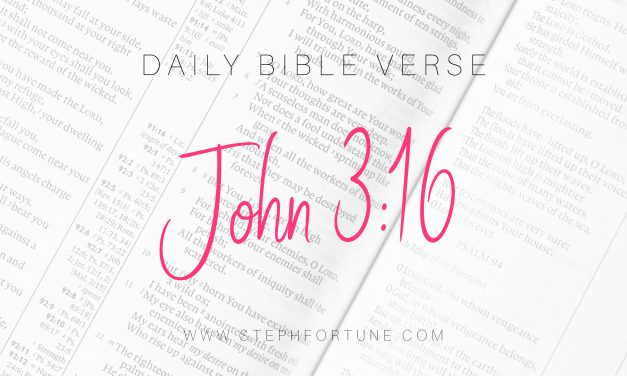 Bible Verse of Day – John 3:16