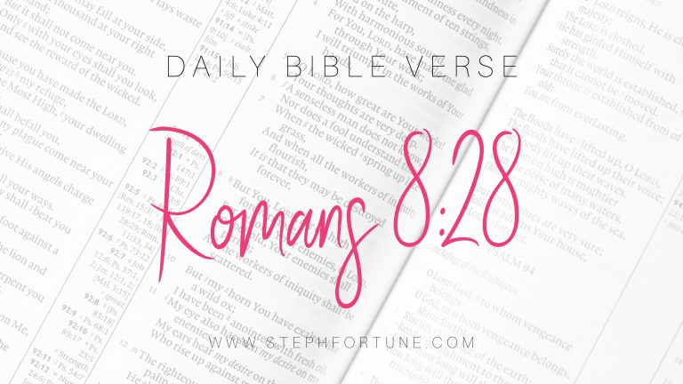 Bible Verse of Day – Romans 8:28