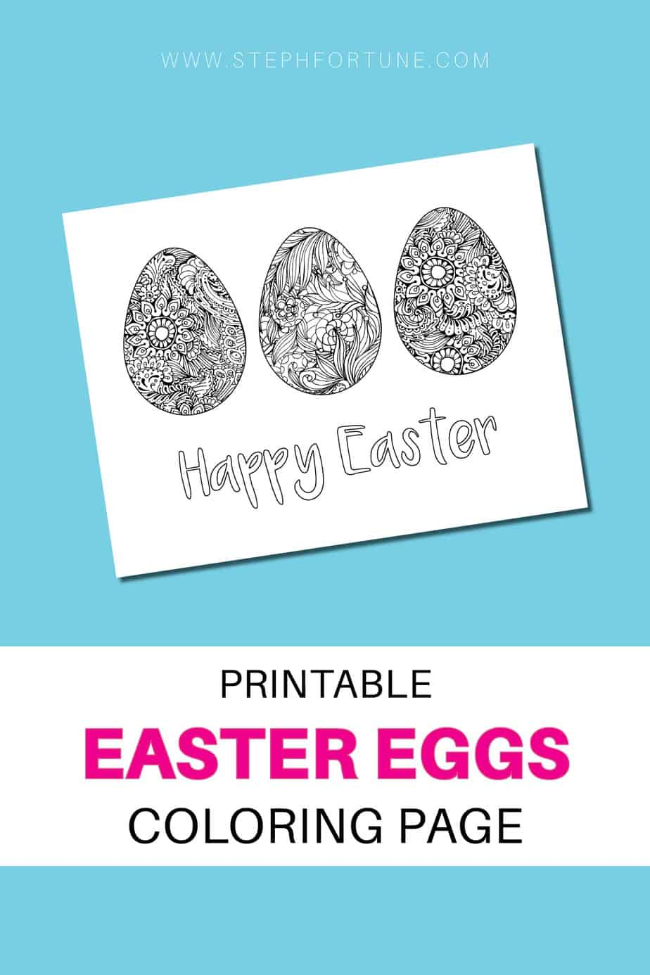 Printable Easter Eggs coloring page