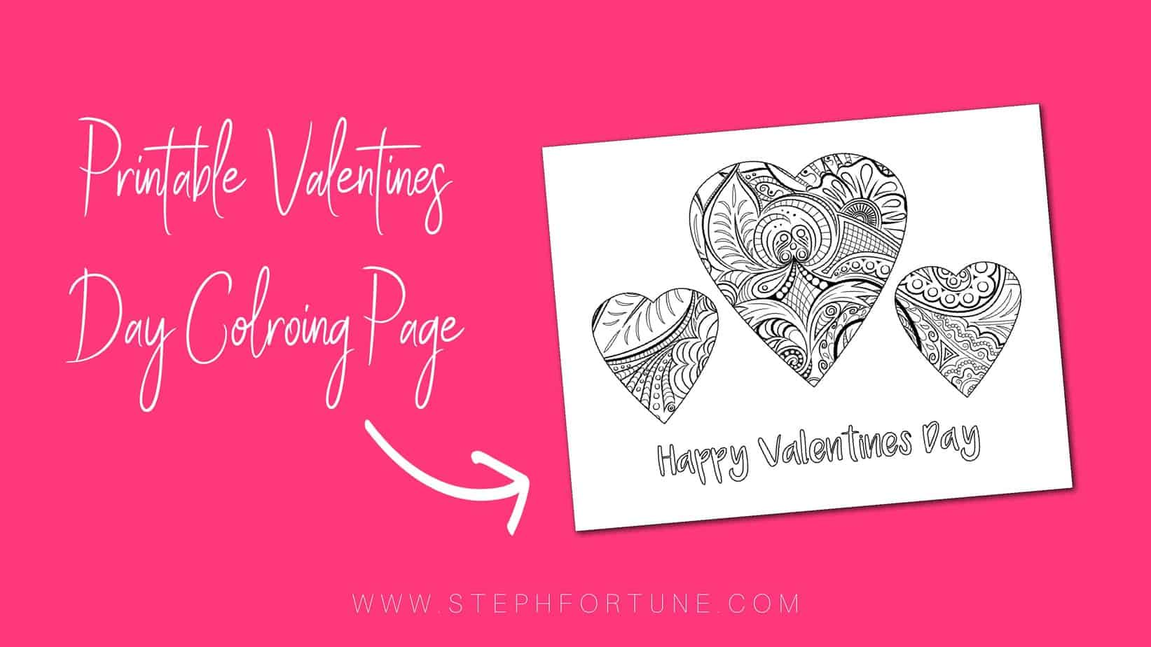Printable valentines day coloring page
