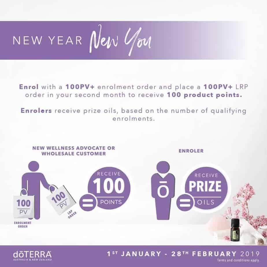 AUS February 2019 doterra promos new year new you