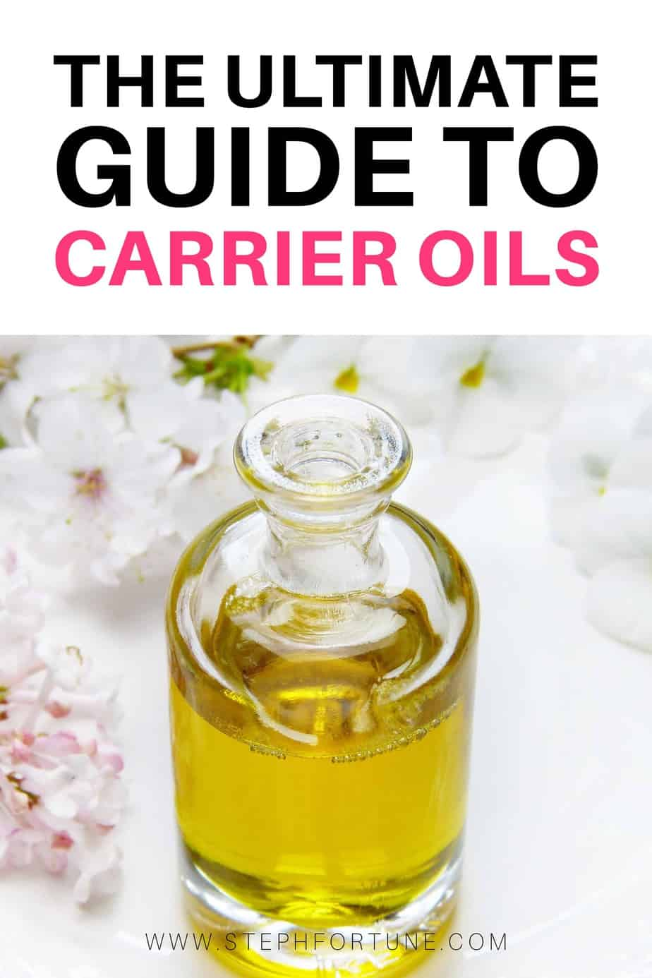 The Ultimate Guide to Carrier Oils - A list of many different carrier oils you can use to dilute essential oils