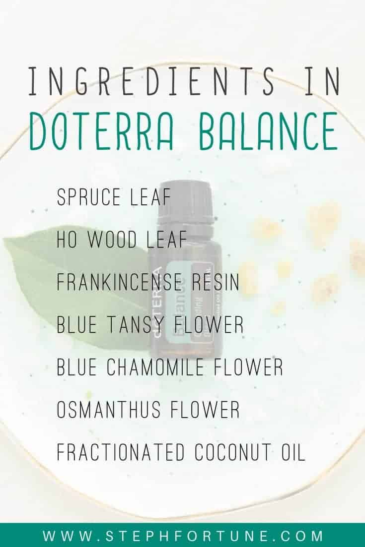 ingredients in balance essential oil